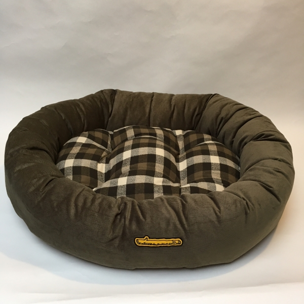 george charcoal ticking stripe dog bed